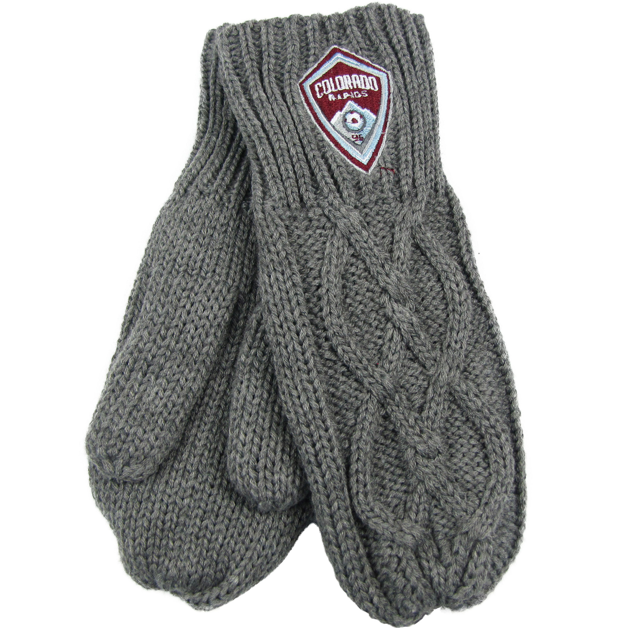 Colorado Rapids ZooZatz Women's Cable Knit Mittens - Charcoal - No Size