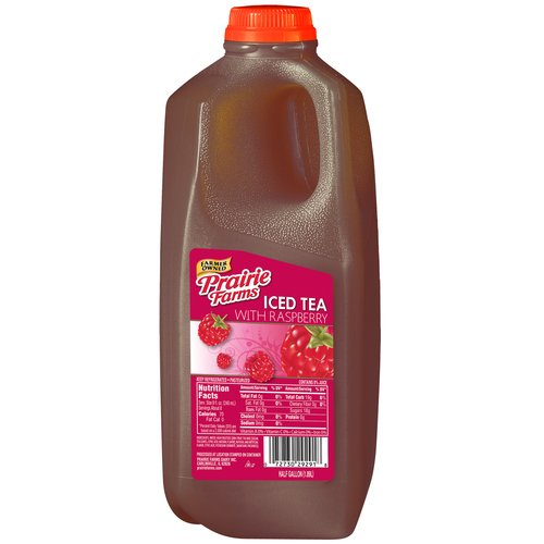 Prairie Farms Raspberry Iced Tea, Half Gallon