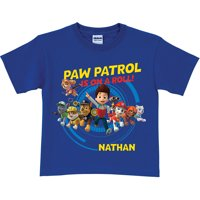 Personalized PAW Patrol On a Roll Royal Blue Boys' T-Shirt