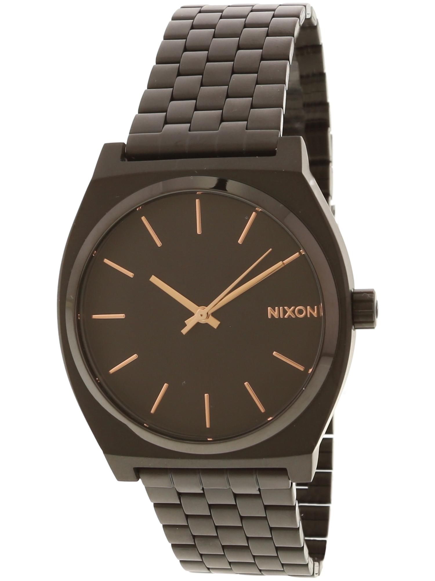 Nixon Men's Time Teller A045957 Matte Black Stainless-Steel Japanese Quartz Dress Watch