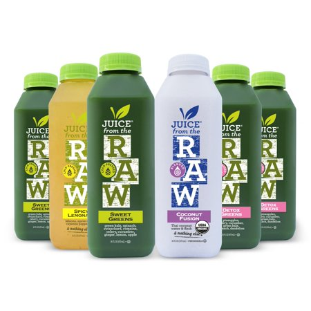 Juice From the RAW 3-Day ORGANIC Detox Juice Cleanse - COLD-PRESSED (NEVER BLENDED) - 18 Bottles (16 fl oz)