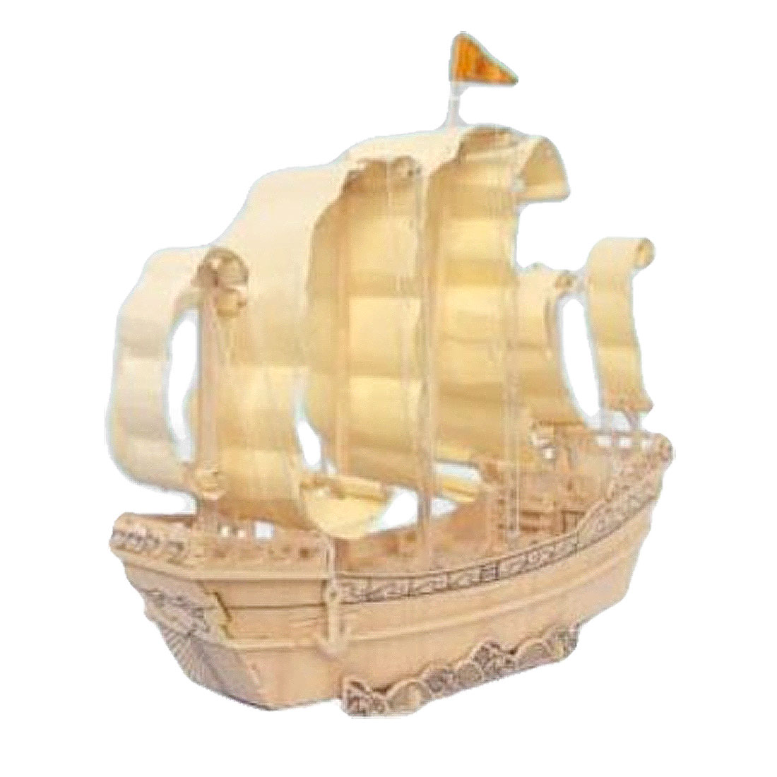 DIY Wooden Sailboat in Ming Dynasty Model 3D Puzzle Educational Toy