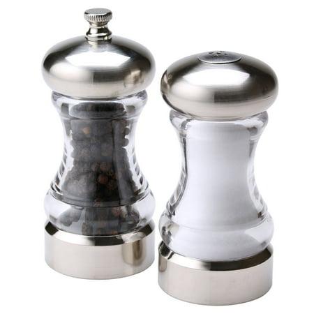 Brushed Salt (Olde Thompson Acrylic Pepper Mill & Salt Shaker Monterey Set )