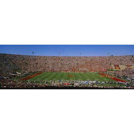 - High Angle View of a Football Stadium Full of Spectators, Los Angeles Memorial Coliseum Print Wall Art