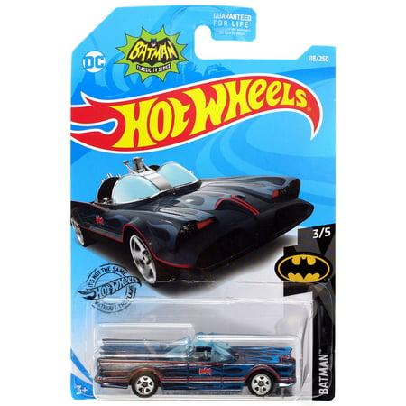 Hot Wheels Batman Classic TV Series Batmobile Die-Cast Car [Blue Flames]