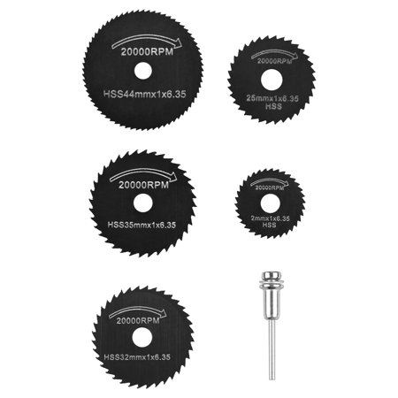 Circular Saw Blade, EEEKit 6-Pack 22-50mm HSS Mini Circular Saw Blades Wood Cutting Disc Power Tools with Mandrel Drill For Timber, Drywall, Plastic,