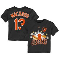 Manny Machado Baltimore Orioles Majestic Toddler Snack Attack Name & Number T-Shirt - Black