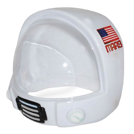 Childrens Mars Astronaut Costume Helmet Toy Space NASA Hat Mask Thin Plastic