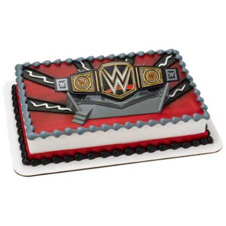WWE Championship Ring Belt Cake Topper