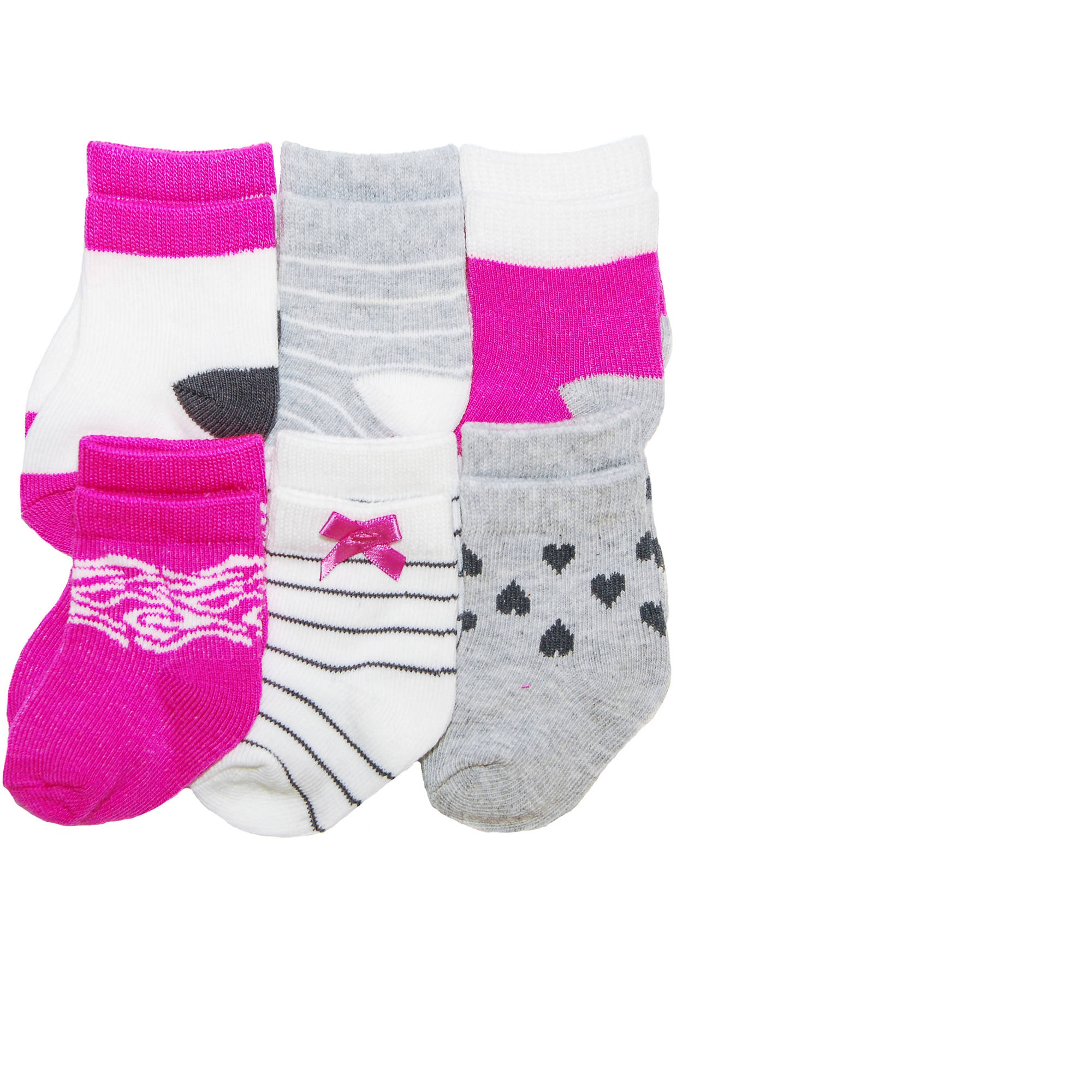Child of Mine by Carter's Newborn Baby Girl 6-Pack Socks