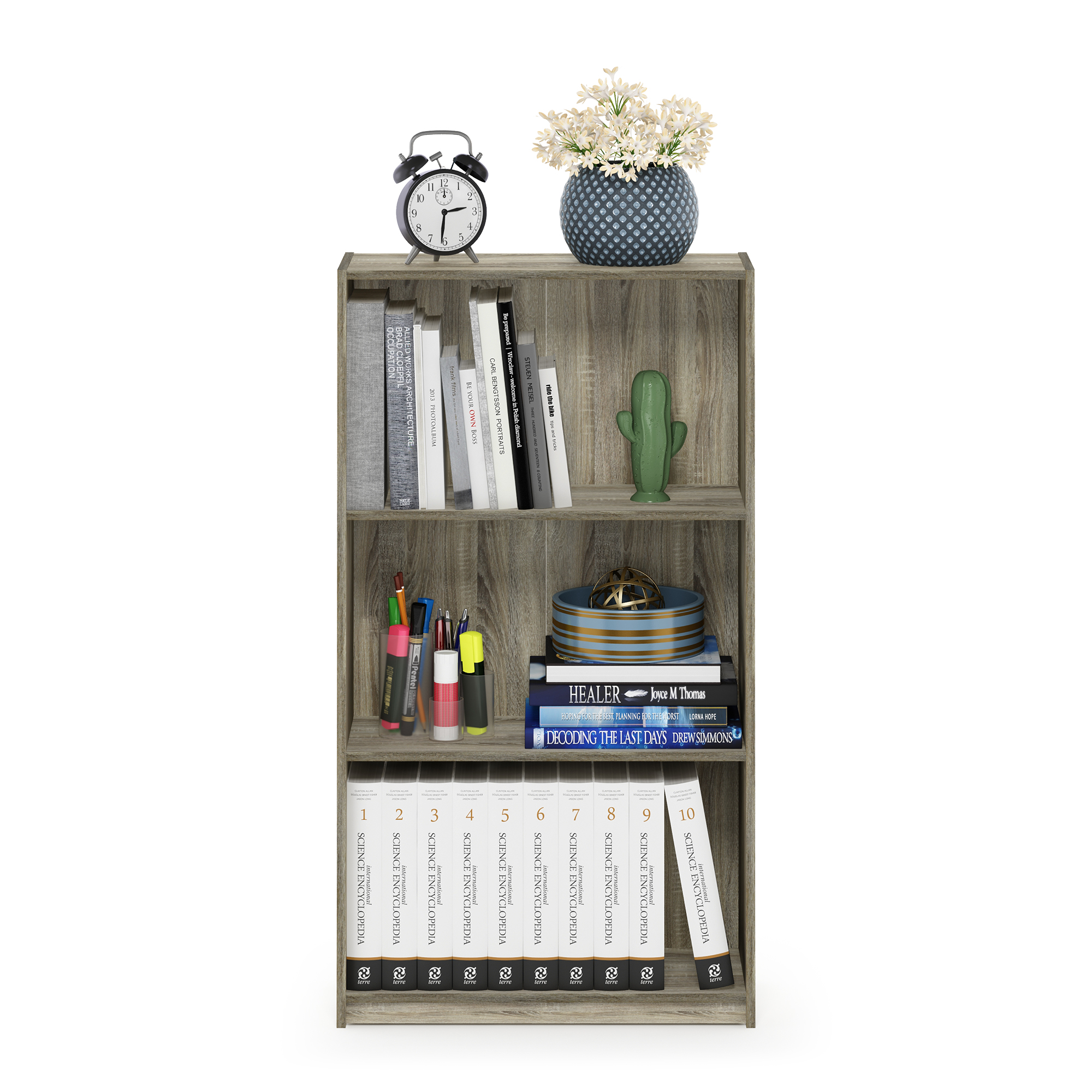 Columbia Walnut Furinno Bookcases one size Wood