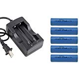 1Pc Dual Slot Lithium ion 3.7v battery charger Rechargeable lithium ion battery icr18650 1Pc Charger 5Pcs