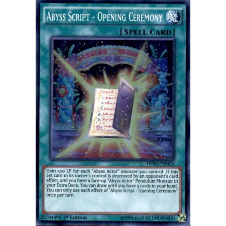 YuGiOh Destiny Soldiers Abyss Script - Opening Ceremony DESO-EN024 - Sand Ceremony Script