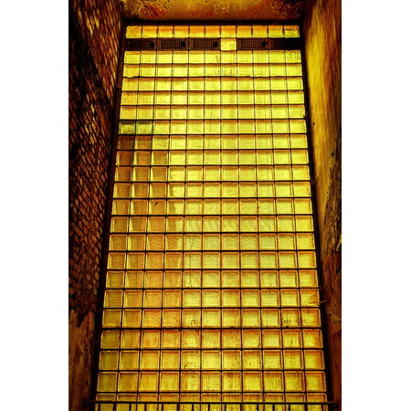 Canvas Print Glass Bricks Glass Blocks Glass Shimmer Wall Stretched Canvas 10 x (Shimmer Brick)