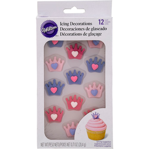 Wilton Icing Decorations, Crown with Heart 12 ct. 710 - 6672