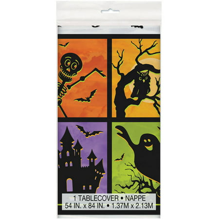 Plastic Haunted House Halloween Table Cover, 84