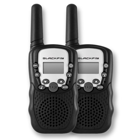 WALKIE TALKIES WITH EARBUDS (2PK) by Black Fin®