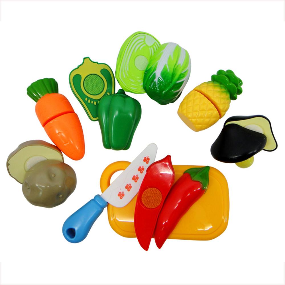 7pcs Playhouse Toys Small Fruit Shop Simulation Utensils Kids Toy