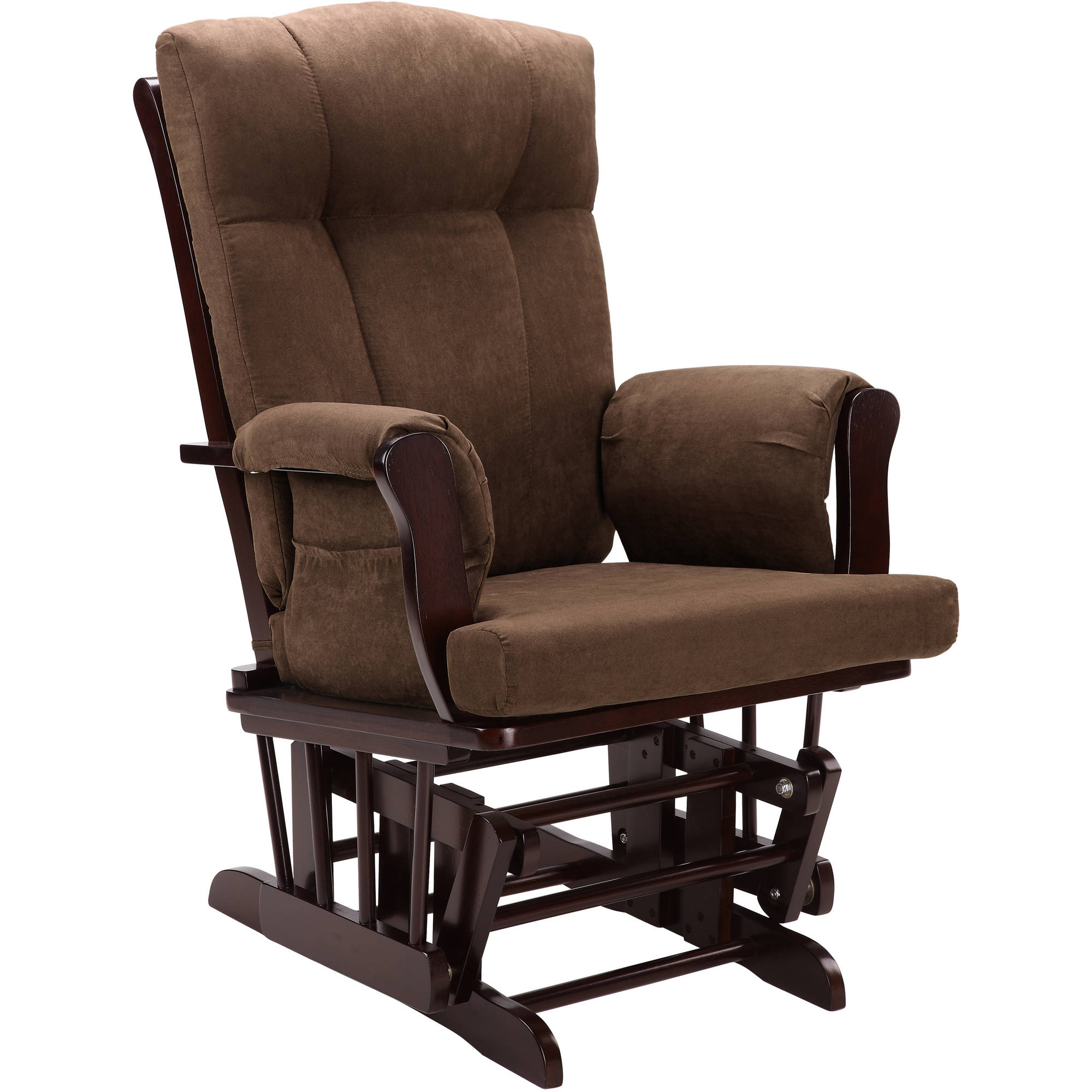 Baby Relax Glider Rocker and Ottoman Espresso with Chocolate Cushions