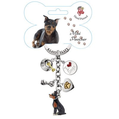 Little Gifts Mini Pinscher Enamel Key Chain