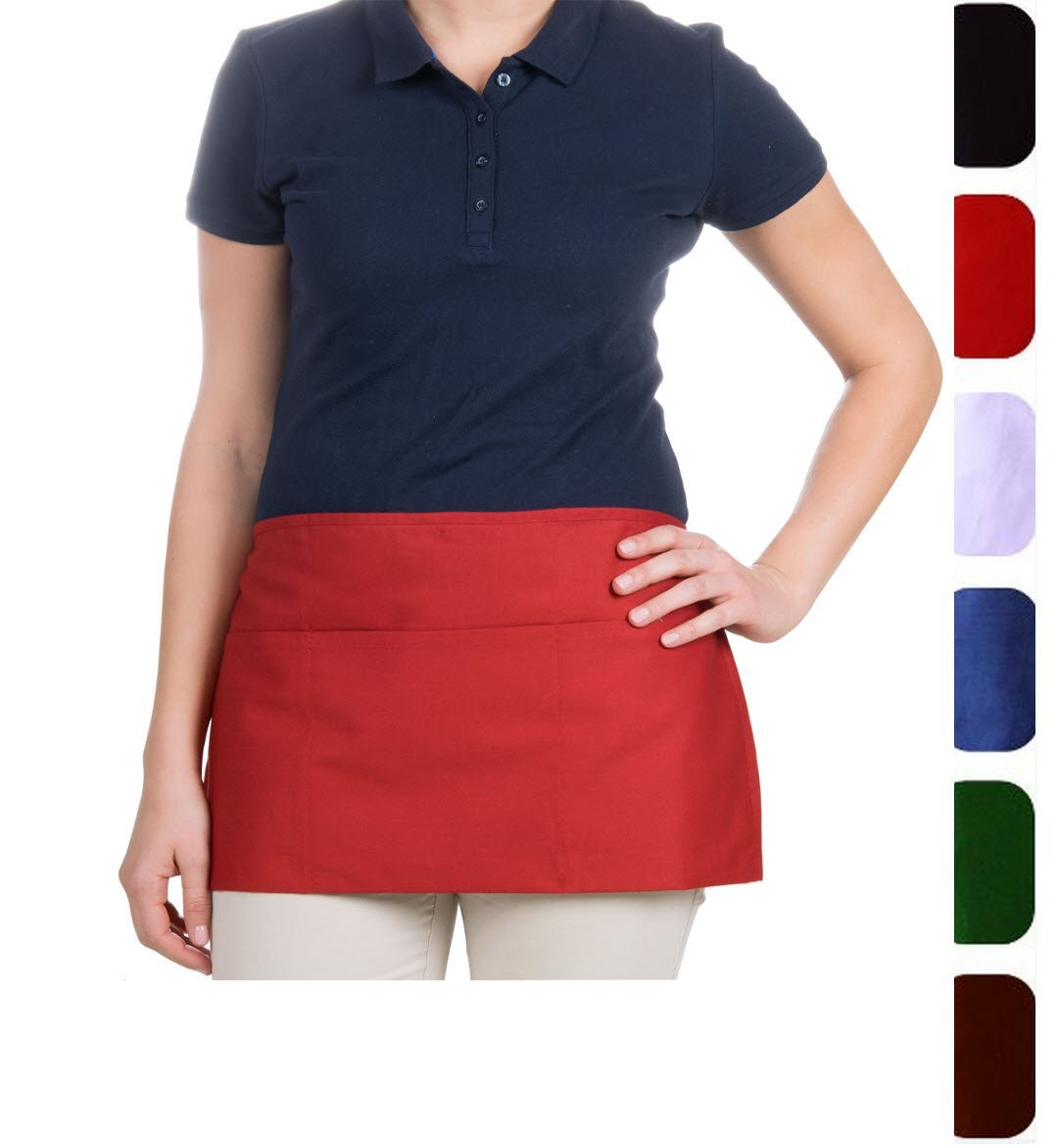 MHF Aprons-1 Piece Pack-White Waist/Waitress Apron-Poly Spun for Home/commercial/Restaurant Kitchen