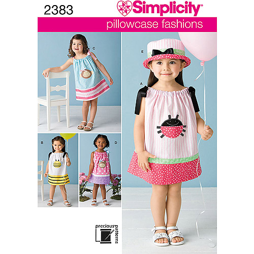 Simplicity Pattern Toddler Dresses, (1/2, 1, 2, 3, 4)