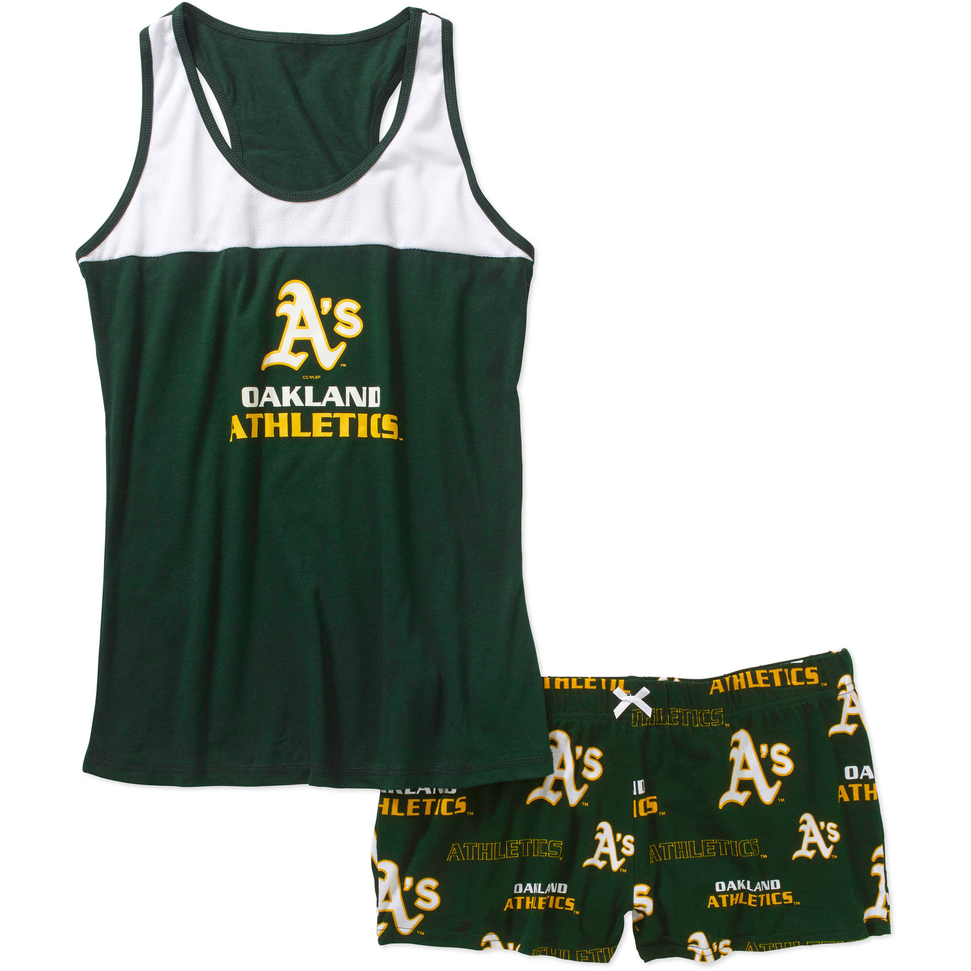 MLB Women's Oakland A's Tank Top and Shorts Set