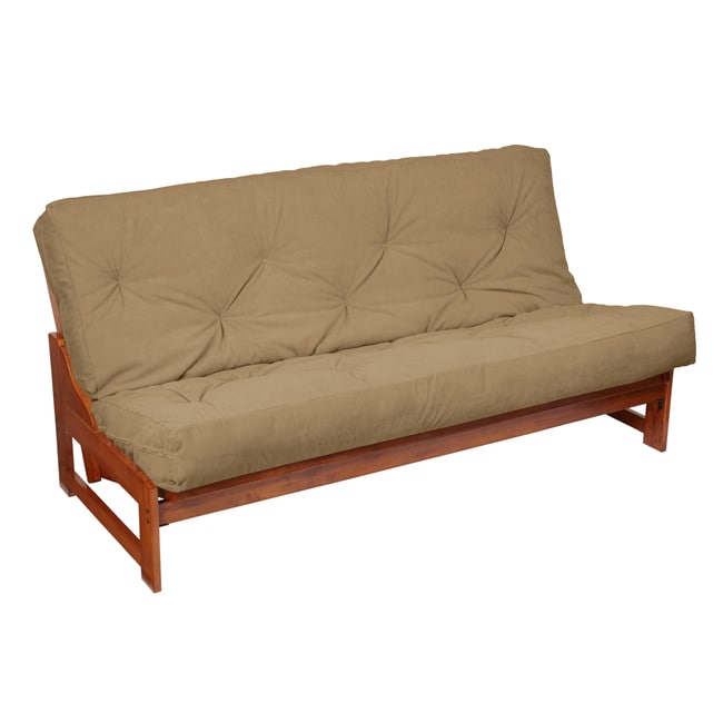 Humble and Haute Queen-Size 10-inch Khaki Suede Futon Mattress