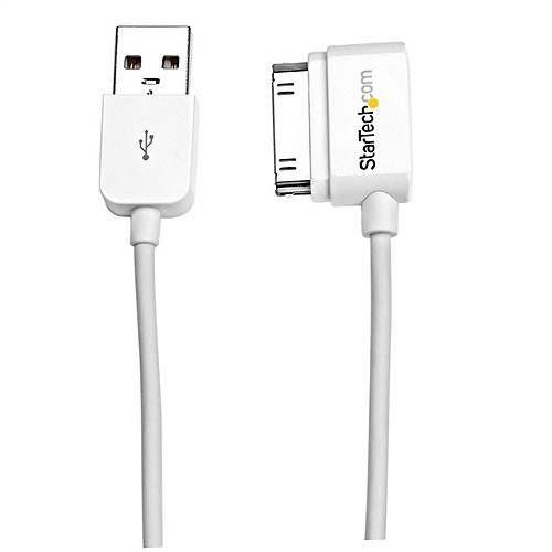 "StarTech 20"" Short USB Left Angle Cable for iPhone/iPod/iPad with Stepped Connector"