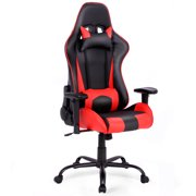 Costway Gaming Chair Racing High Back Office Chair w/ Lumbar Support and Headrest Red