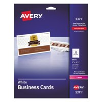 """Avery Business Cards, Two-Sided Printing, 2"""" x 3-1/2"""", 250 Cards (5371)"""