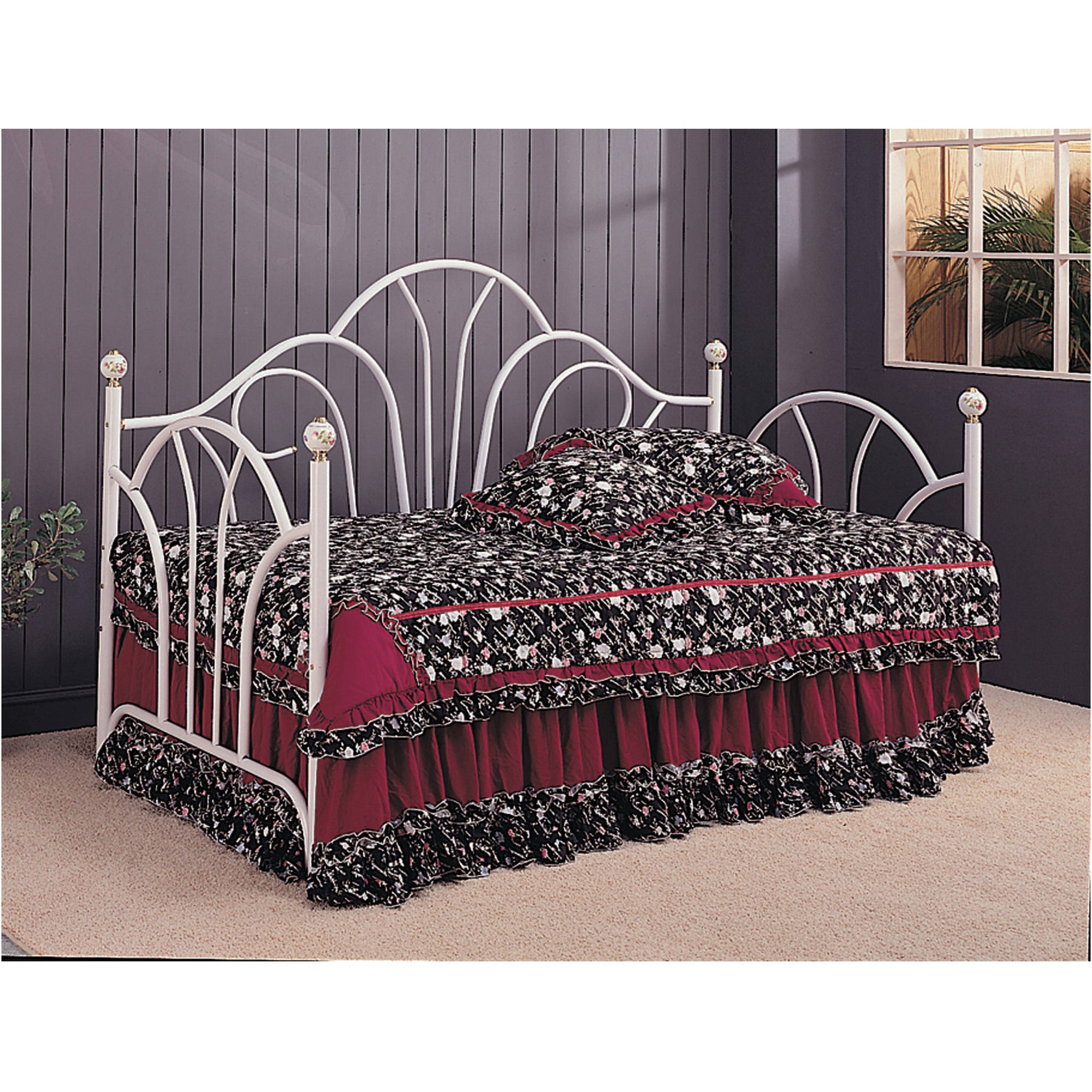 Coaster Company Twin Metal Day Bed Frame, White (link spring sold separately) by Coaster Company