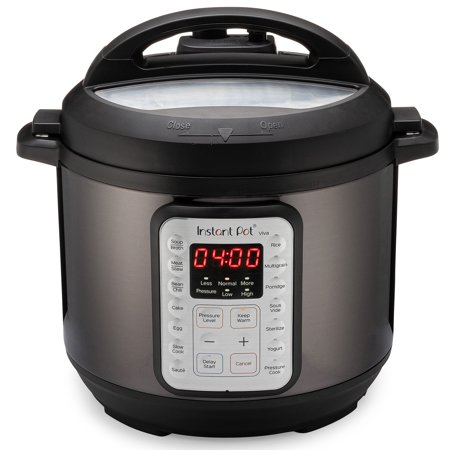 Instant Pot Viva Black Multi-Use 9-in-1 6 Quart Pressure Cooker