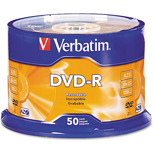 Verbatim DVD-R 4.7GB 16X AZO 50pk Spindle