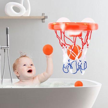 Fun Basketball Hoop & Balls Playset for Boys Girls Bathtub Shooting (Fun Games To Play On A Basketball Court)