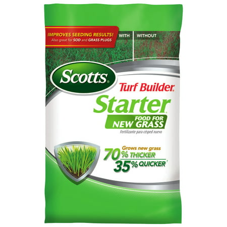 - Scotts Turf Builder Starter Food for New Grass 15 lbs