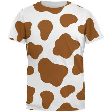 Halloween Costume Brown Spot Cow All Over Mens T Shirt - Ikea Halloween Spot