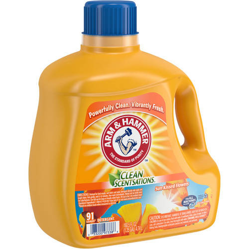 arm and hammer laundry detergent arm amp hammer clean scentsations sun kissed flowers liquid 28419