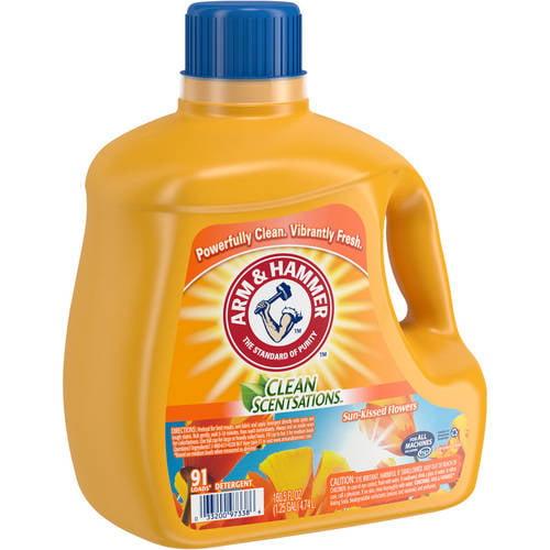 Arm & Hammer Clean Scentsations Sun-Kissed Flowers Liquid Laundry Detergent, 160.5 fl oz