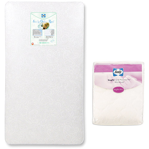 Sealy Baby - Crib/Toddler Mattress with BONUS Sealy Mattress Pad