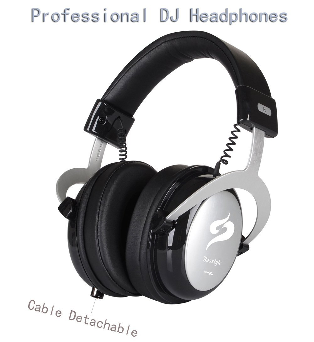 Basstyle TH-5001 Professional Monitor Headphones Over-Ear...
