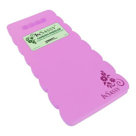 InSassy (TM) Garden Kneeler Wave Pad - High Density Foam for Best Knee Protection (Pink)
