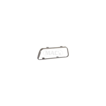 MACs Auto Parts Premier  Products 41-39585 Brake Pedal Pad Trim Ring - Automatic Transmission - Stainless Steel - Falcon, Comet & Montego