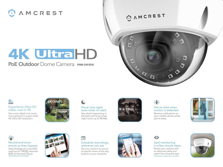 be1f67bcd22a Amcrest 16CH Plug   Play H.265 4K NVR (8MP) 3840x2160 Security Camera  System