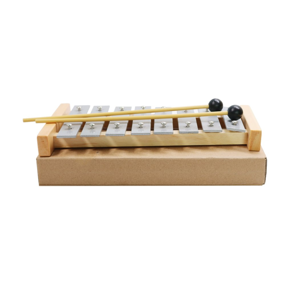 TL8-3 Aluminum Disc Musical Teaching Aid Children Kids 8 Notes Wooden Xylophone