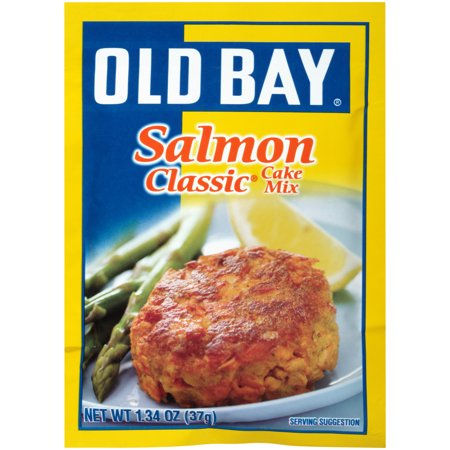 (3 Pack) OLD BAY Classic Salmon Cake Mix, 1.34 oz Low White Cake Mix