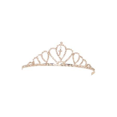 Girls Silver Crystals Dangling Cross Communion Tiara](Silver Tiara)
