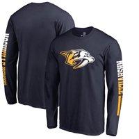 Nashville Predators Fanatics Branded Gradient Logo Long Sleeve T-Shirt - Navy