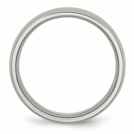 Stainless Steel 8mm Brushed Wedding Ring Band Size 8.00 Classic Domed Fashion Jewelry Gifts For Women For Her - image 5 de 10