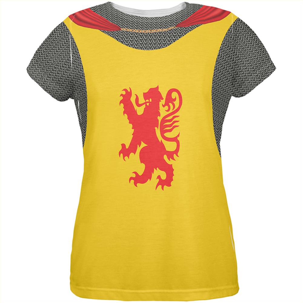 Halloween Knight Rampant Lion Armor Costume All Over Womens T Shirt